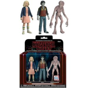 ELEVEN, WILL, DEMOGORGON PACK 3 FIGURINES ARTICULÉES - STRANGER THINGS - EXCLU NYCC - ReACTION –FUNKO – (1) - 889698208055 – kingdom-figurine.fr