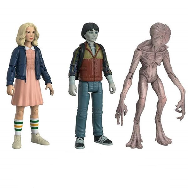 ELEVEN, WILL, DEMOGORGON PACK 3 FIGURINES ARTICULÉES - STRANGER THINGS - EXCLU NYCC - ReACTION –FUNKO – (1Bis) - 889698208055 – kingdom-figurine.fr