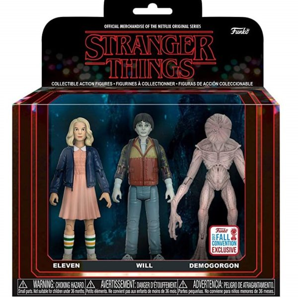 ELEVEN, WILL, DEMOGORGON PACK 3 FIGURINES ARTICULÉES - STRANGER THINGS - EXCLU NYCC - ReACTION –FUNKO – (2) - 889698208055 – kingdom-figurine.fr