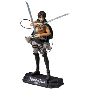 EREN JAEGER FIGURINE - ATTACK ON TITAN - COLOR TOPS - Mc FARLARNE TOYS - 18 CM – (1) - 787926120035 – kingdom-figurine.fr