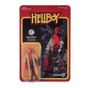 HELLBOY FIGURINE - HELLBOY - WAVE 1 - RE-ACTION - SUPER7 - 10 CM – 605930564679 – kingdom-figurine.fr