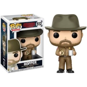 HOPPER (WITH MUGG) FIGURINE - STRANGER THINGS - FUNKO - POP TV 512 – (1) - 889698144254 – kingdom-figurine.fr