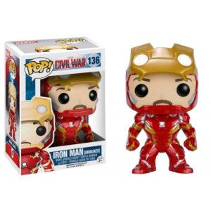 IRON MAN UNMASQUED FIGURINE - MARVEL CIVIL WAR - FUNKO – EXCLU - POP 136 – 849803072254 – kingdom-figurine.fr