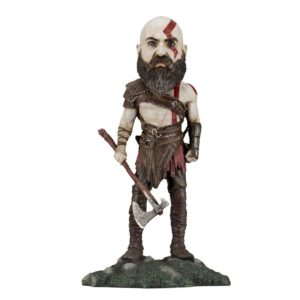 KRATOS FIGURINE RÉSINE BOBBLE HEAD - GOD OF WAR – NECA - 22 CM – (1) - 634482493199 – kingdom-figurine.fr