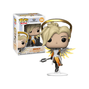 MERCY FIGURINE - OVERWATCH - FUNKO - POP GAMES 304 – 889698290470 – kingdom-figurine.fr