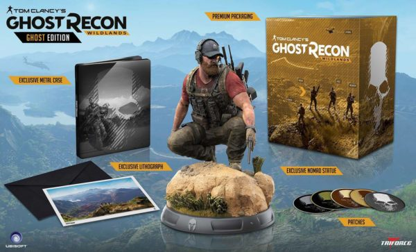 NOMAD STATUETTE - GHOST RECON WIDLANDS - COLLECTOR'S EDITION - TRIFORCE - 37 CM - (3) - 859222006235 – kingdom-figurine.fr