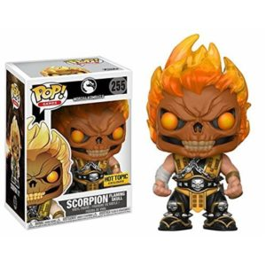 SCORPION FLAMING SKULL FIGURINE - MORTAL KOMBAT X - EXCLUSIVE - FUNKO - POP GAMES 255 – 889698225106 – kingdom-figurine.fr