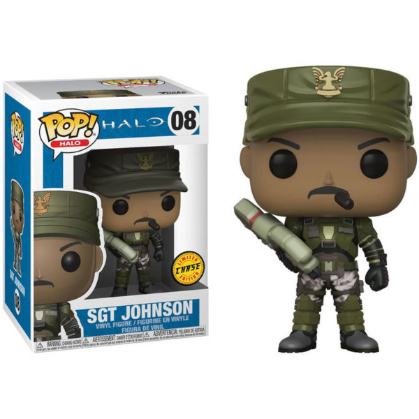 SGT JOHNSON (CIGAR) FIGURINE - HALO - CHASE EDITION - FUNKO - POP HALO 08 – 889698301015 – kingdom-figurine.fr