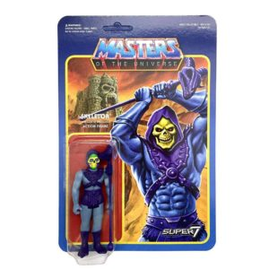 SKELETOR FIGURINE ARTICULÉE - MOTU - WAVE 2 - RE-ACTION - SUPER7 - 10 CM – 605930564303 – kingdom-figurine.fr