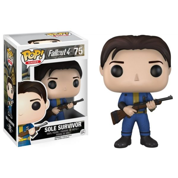 SOLE SURVIVOR FIGURINE - FALLOUT 4 - FUNKO - POP GAMES 75 – 849803077877 – kingdom-figurine.fr