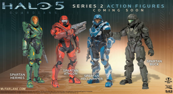 SPARTAN BUCK FIGURINE - HALO 5 GUARDIANS - SERIE 2 - Mc FARLANE TOYS - 15 CM – (3) - 787926194111 – kingdom-figurine.fr