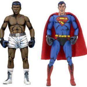 SUPERMAN VS MUHAMMAD ALI PACK 2 FIGURINES - NECA - 18 CM – (1Bis) - 0634482420744 – kingdom-figurine.fr