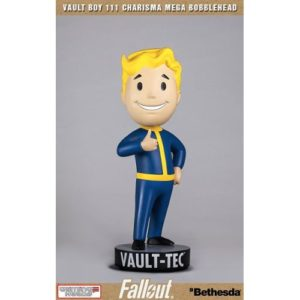 VAULT BOY 111 CHARISMA STATUETTE RÉSINE - MEGA BOBLE HEAD - FAILLOUT 4 - GAMING HEADS - 38 CM – (0) - 5060254181851 – kingdom-figurine.fr