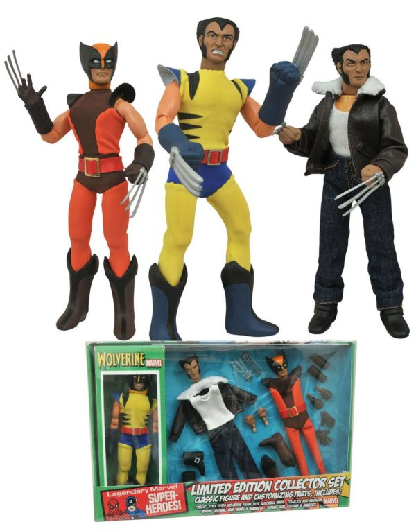WOLVERINE FIGURINE ARTICULÉE - MARVEL RETRO - COLLECTOR SET - DIAMOND SELECT TOYS -20 CM – (1Bis) - 699788179482 – kingdom-figurine.fr