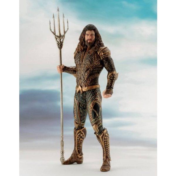 AQUAMAN STATUE ARTFX+ 1-10 JUSTICE LEAGUE MOVIE KOTOBUKIYA 20 CM (1Bis) 4934054903665 kingdom-figurine.fr