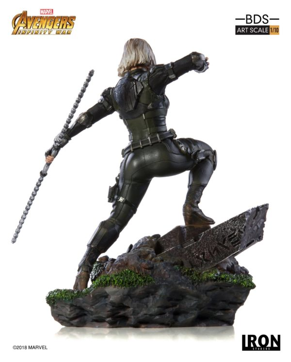 BLACK WIDOW STATUE – 1-10 - AVENGERS INFINTY WAR - BDS ART SCALE - IRON STUDIOS - 18 CM – (3) - 751320773326 – kingdom-figurine.fr