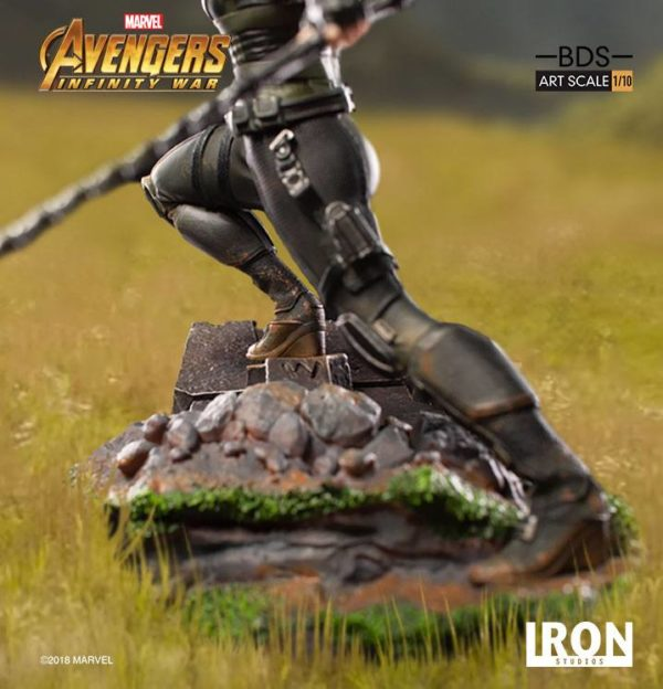 BLACK WIDOW STATUE – 1-10 - AVENGERS INFINTY WAR - BDS ART SCALE - IRON STUDIOS - 18 CM – (8) - 751320773326 – kingdom-figurine.fr