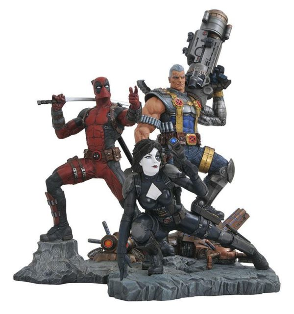 DOMINO STATUE MARVEL COMIC PREMIER COLLECTION DIAMOND SELECT 21 CM (4) 699788828878 kingdom-figurine.fr