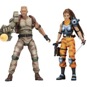 DUTCH & LINN PACK 2 FIGURINES - ALIEN VS PREDATOR ARCADE 1994 - NECA - 18 CM – (1Bis) - 634482516904 – kingdom-figurine.fr