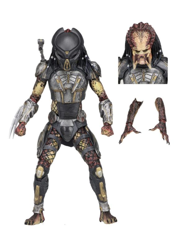 FUGITIVE PREDATOR ULTIMATE FIGURINE - PREDATOR 2018 - NECA - 20 CM – (2) - 634482515723 – kingdom-figurine.fr