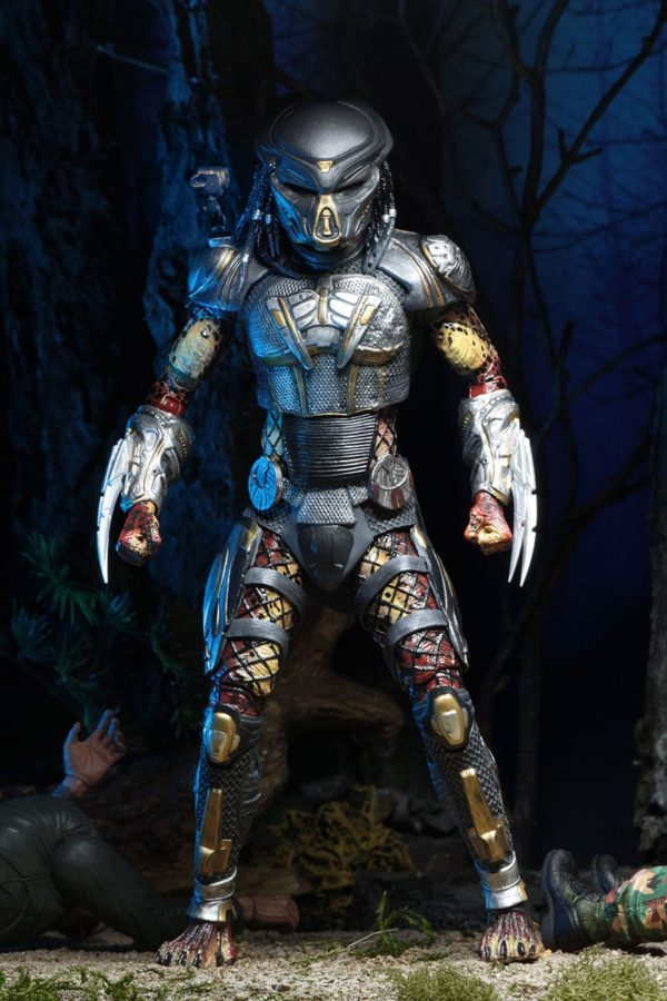 FUGITIVE PREDATOR ULTIMATE FIGURINE - PREDATOR 2018 - NECA - 20 CM – (3) - 634482515723 – kingdom-figurine.fr