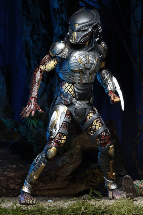 FUGITIVE PREDATOR ULTIMATE FIGURINE - PREDATOR 2018 - NECA - 20 CM – (4) - 634482515723 – kingdom-figurine.fr