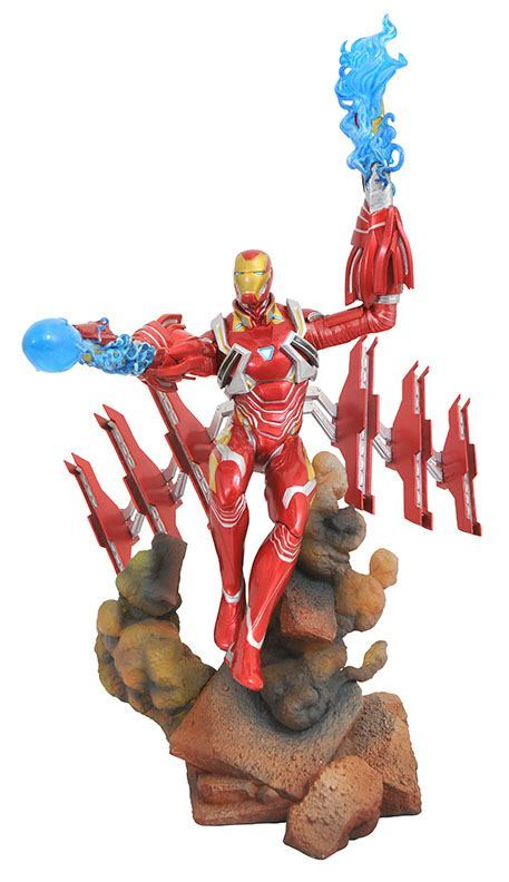 IRON MAN MK50 STATUE AVENGERS INFINTY WAR MARVEL GALLERY DIAMOND SELECT TOYS 23 CM (2) 699788828601 kingdom-figurine.fr