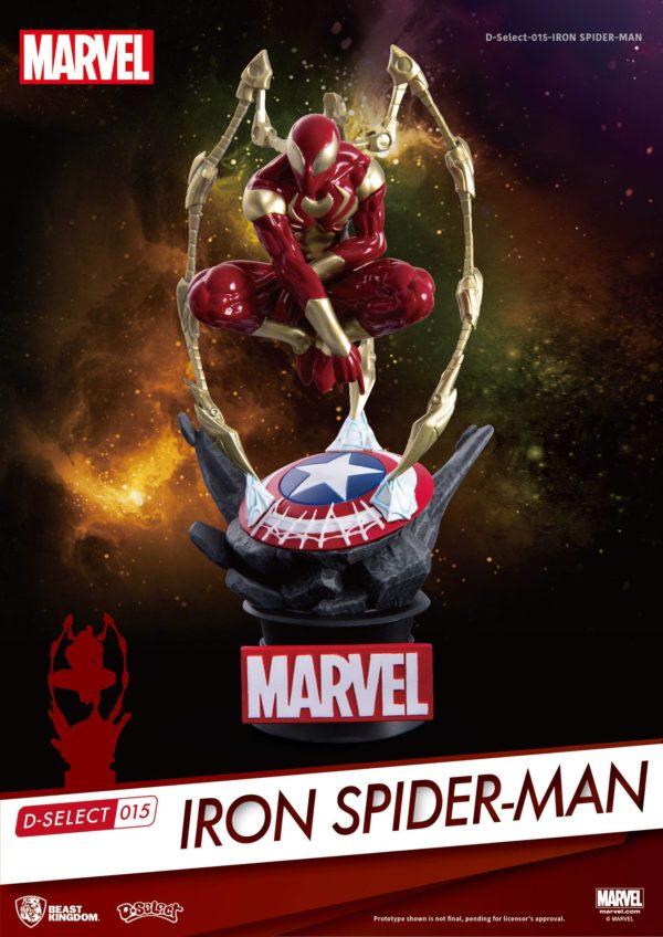 IRON SPIDER-MAN DIORAMA MARVEL - D-SELECT - BEAST KINGDOM - 16 CM – (1Bis) - 4713319858625 – kingdom-figurine.fr