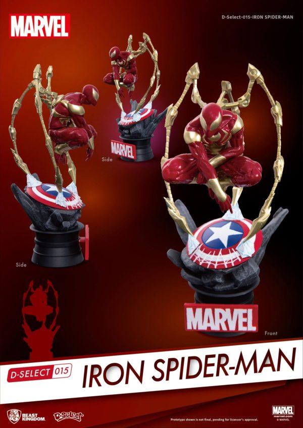 IRON SPIDER-MAN DIORAMA MARVEL - D-SELECT - BEAST KINGDOM - 16 CM – (2) - 4713319858625 – kingdom-figurine.fr