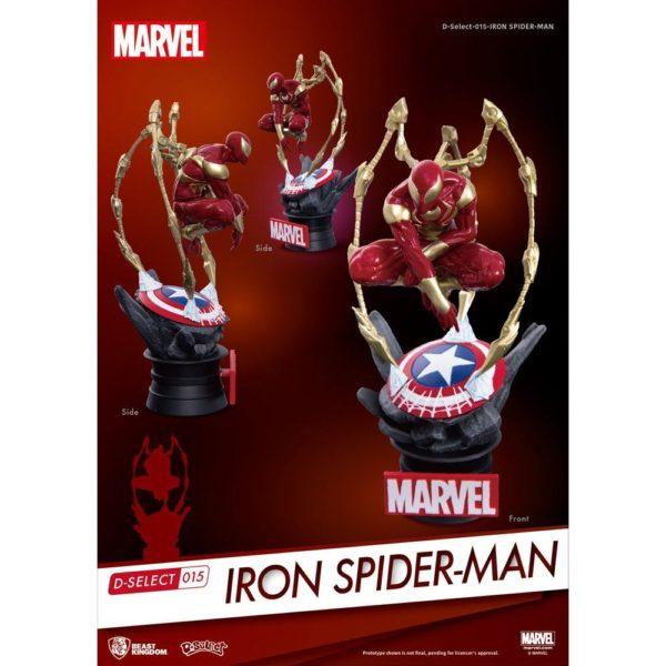 IRON SPIDER-MAN DIORAMA MARVEL - D-SELECT - BEAST KINGDOM - 16 CM – 4713319858625 – kingdom-figurine.fr