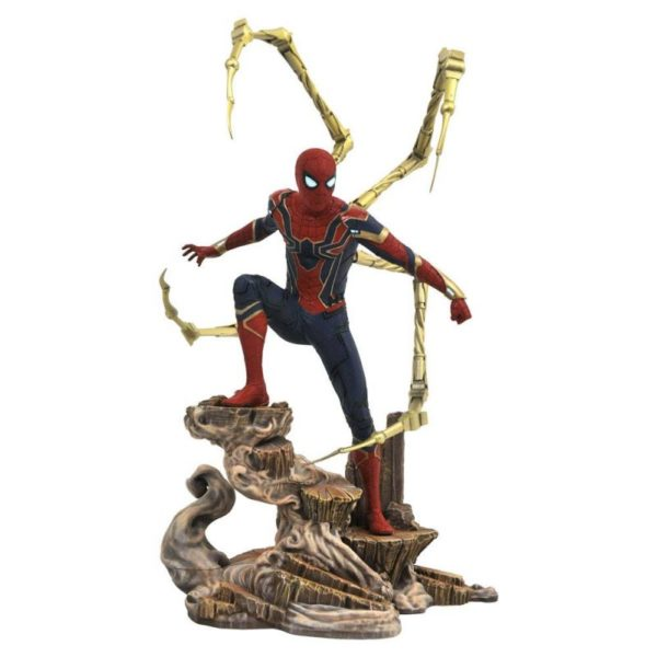 IRON SPIDER-MAN STATUE - AVENGERS INFINITY WAR - MARVEL MOVIE GALLERY - DIAMOND SELECT TOYS - 23 CM – (1) - 699788828618 – kingdom-figurine.fr