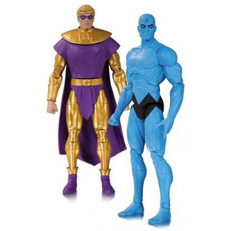 OZYMANDIAS & Dr. MANATTHAN FIGURINES - PACK DOOMSDAY CLOCK - DC COLLECTIBLES - 17 CM – (1) - 761941353807 – kingdom-figurine.fr