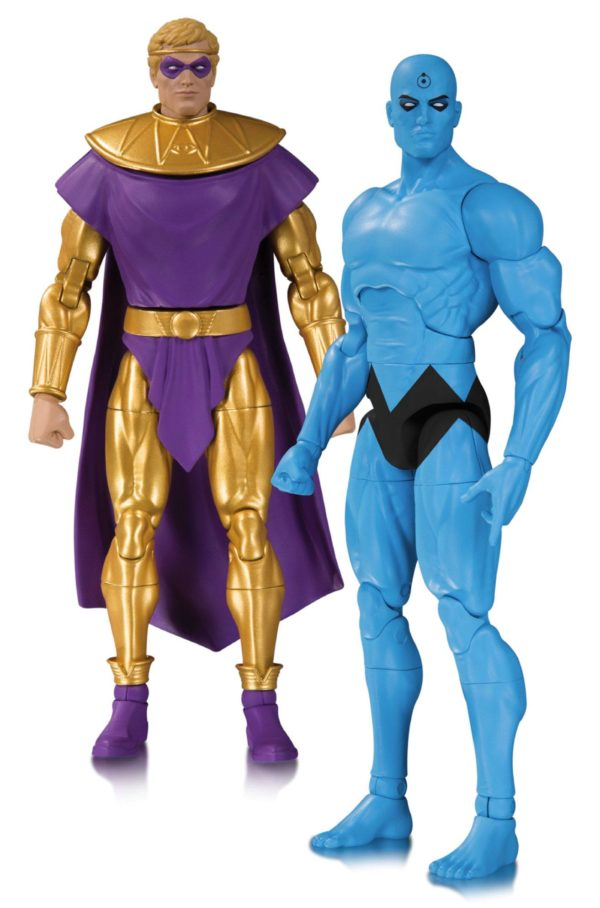 OZYMANDIAS & Dr. MANATTHAN FIGURINES - PACK DOOMSDAY CLOCK - DC COLLECTIBLES - 17 CM – (1Bis) - 761941353807 – kingdom-figurine.fr