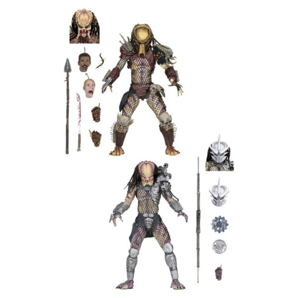 PREDATOR BAD BLOOD & ENFORCER PACK 2 FIGURINES ULTIMATE - NECA - 20 CM – (1) - 634482515709 – kingdom-figurine.fr