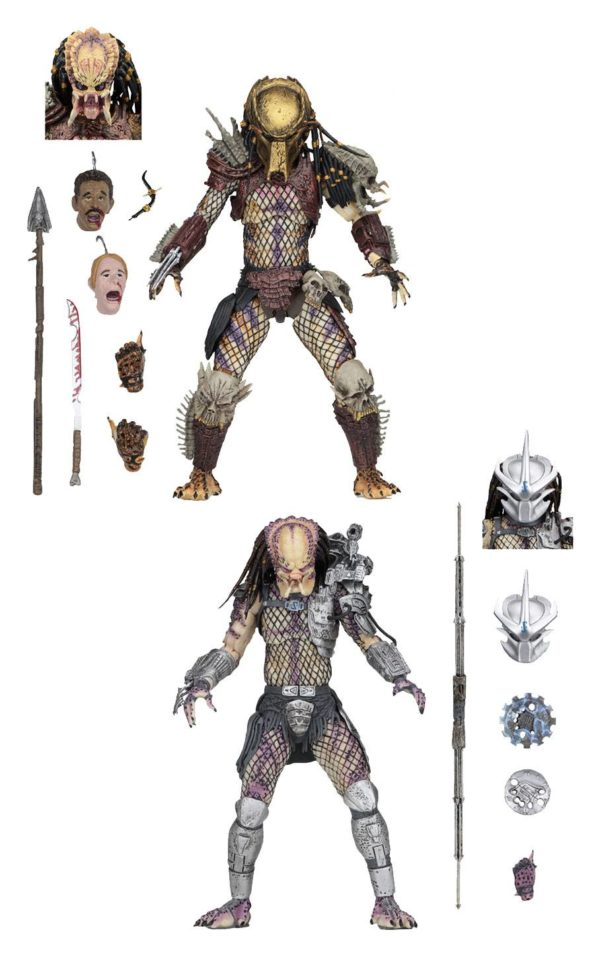 PREDATOR BAD BLOOD & ENFORCER PACK 2 FIGURINES ULTIMATE - NECA - 20 CM – (1Bis) - 634482515709 – kingdom-figurine.fr