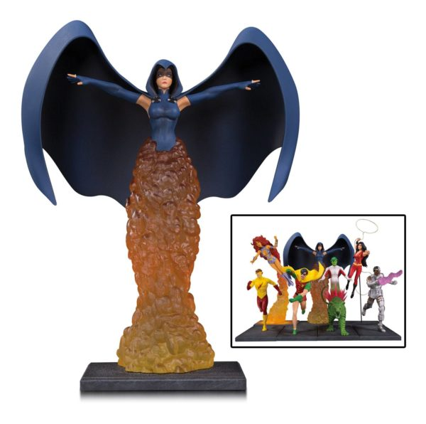 RAVEN STATUETTE - TEEN TITANS - DC COLLECTIBLES - 27 CM – (2) - 761941354323 – kingdom-figurine.fr