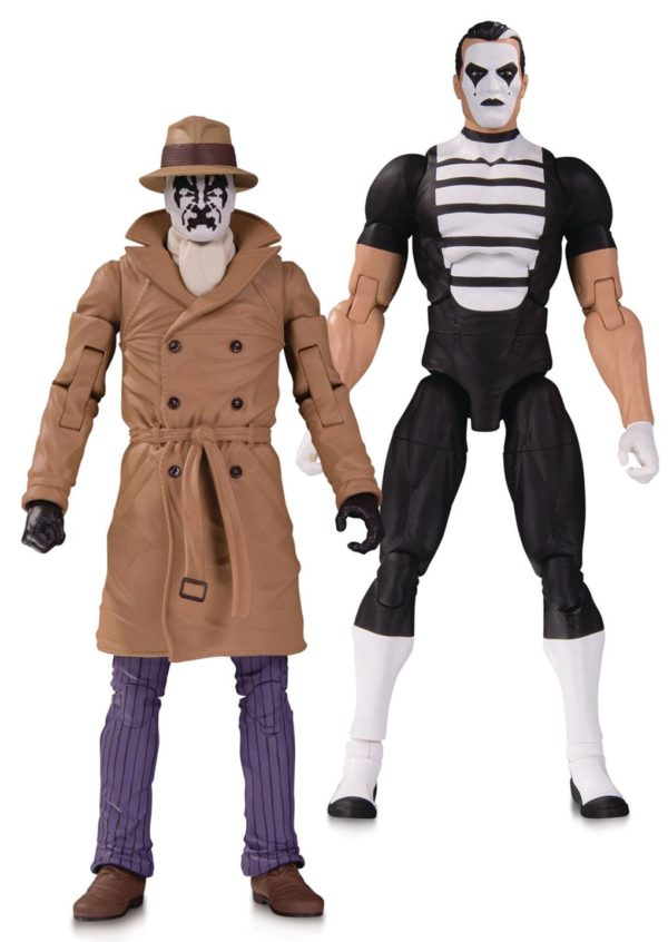 RORSCHACH & MIME FIGURINES - PACK DOOMSDAY CLOCK - DC COLLECTIBLES - 18 CM – (1Bis) - 761941353814 – kingdom-figurine.fr