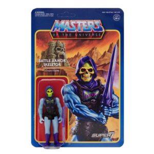 SKELETOR BATTLE ARMOR - FIGURINE - MOTU - WAVE 3 - RE-ACTION - SUPER7 - 10 CM – (1) - 086547345798 – kingdom-figurine.fr