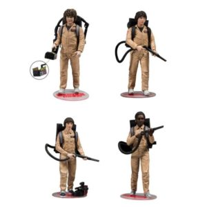 STRANGER THINGS PACK 4 FIGURINES GHOSTBUSTER McFARLANE TOYS 15 CM 787926130751 kingdom-figurine.fr