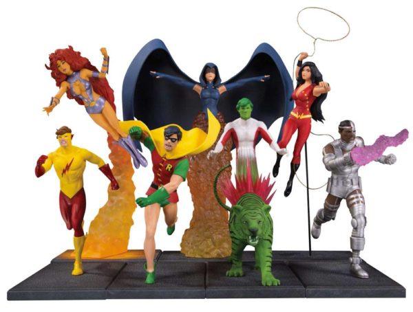 TEEN TITANS DIORAMA - 7 STATUETTES RÉSINE - - DC COMICS - DC COLLECTIBLES - 19 CM – kingdom-figurine.fr