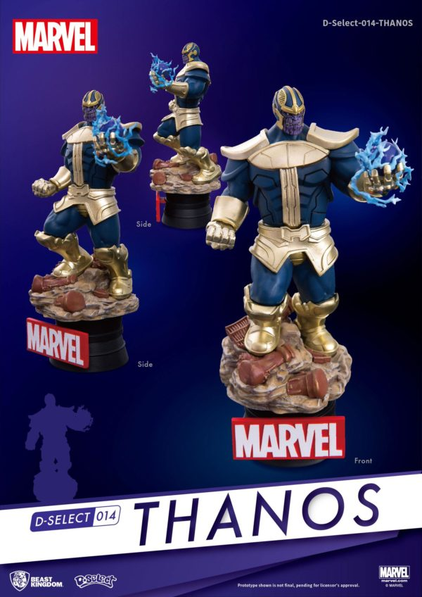 THANOS DIORAMA MARVEL - D-SELECT - BEST KINGDOM - 15 CM – (2) - 4713319858618 – kingdom-figurine.fr