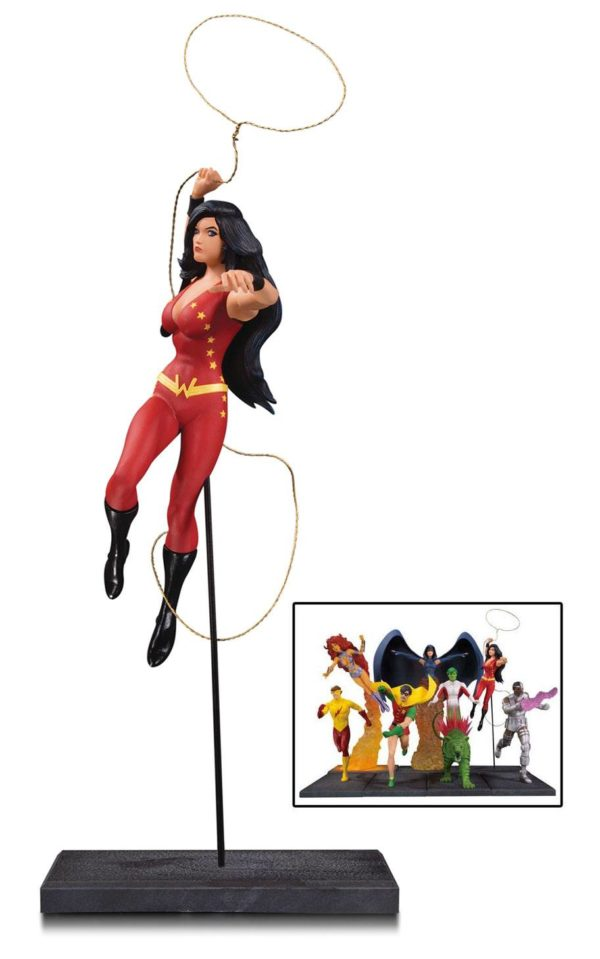 WONDER GIRL STATUETTE - TEEN TITANS - DC COLLECTIBLES - 19 CM – (2) - 761941354316 – kingdom-figurine.fr