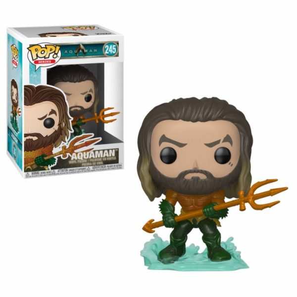 AQUAMAN FIGURINE AQUAMAN MOVIES FUNKO POP HEROES 245 889698311779 kingdom-figurine.fr