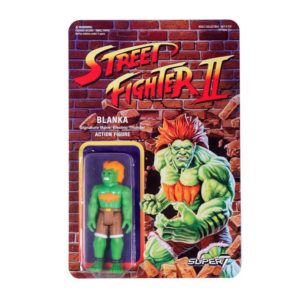 BLANKA FIGURINE STREET FIGHTER II WAVE 1 RE-ACTION SUPER7 605930564402 kingdom-figurine.fr