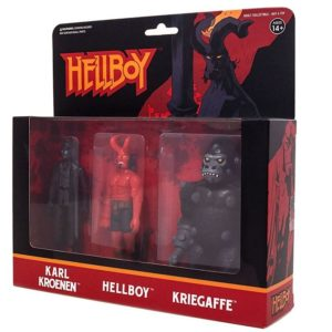 HELLBOY PACK 3 FIGURINES - HELLBOY WITH HORNS - KARL KROENEN - KRIEGAFFE APE - ReAction SUPER7 (1) 811169030841 kingdom-figurine.fr