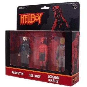 HELLBOY PACK 3 FIGURINES HELLBOY WITH HORNS - RASPUTIN - JOHANN KRAUS – ReACTION SUPER7 (1bis) 811169030834 kingdom-figurine.fr