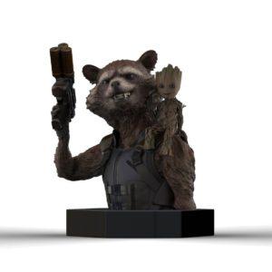 ROCKET RACCOON & GROOT BUSTE LES GARDIENS DE LA GALAXIE VOL.2 SEMIC 16 CM (1) 3760226375517 kingdom-figurine.fr