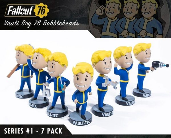 VAULT BOYS PACK 7 FIGURINES BOBBLE HEADS FALLOUT 76 SERIE 1 GAMING HEADS 13 CM (1bis) 5060254182650 kingdom-figurine.fr