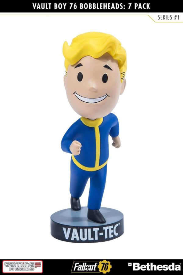 VAULT BOYS PACK 7 FIGURINES BOBBLE HEADS FALLOUT 76 SERIE 1 GAMING HEADS 13 CM (2) 5060254182650 kingdom-figurine.fr