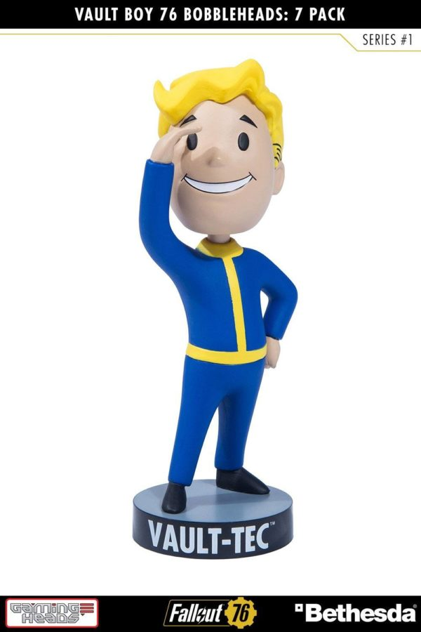VAULT BOYS PACK 7 FIGURINES BOBBLE HEADS FALLOUT 76 SERIE 1 GAMING HEADS 13 CM (6) 5060254182650 kingdom-figurine.fr